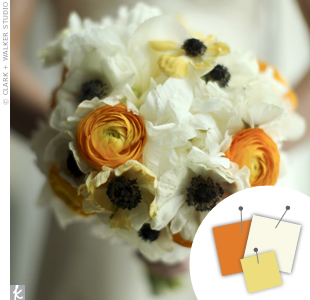 White + Orange + Yellow