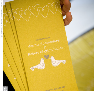 Yellow Ceremony Programs
