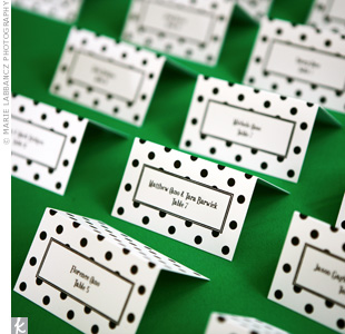 Polka-Dot Escort Cards