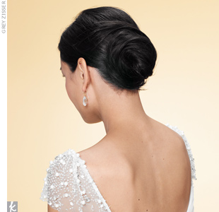 swirled chignon