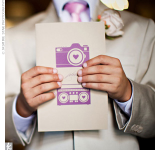 Purple DIY Wedding Programs