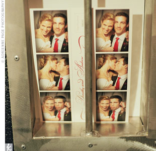 During the cocktail hour, the couple and their guests hammed it up while posing for pictures in a photo booth.