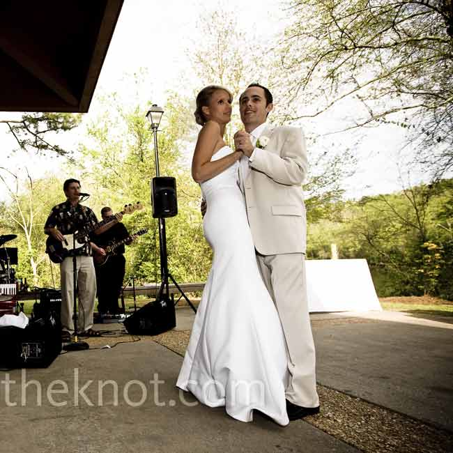 "The band learned The Grateful Dead's ""Easy to Love You"" for the couple's first dance. ""Josh used to call and sing it to me on my voicemail,"" says Amy."