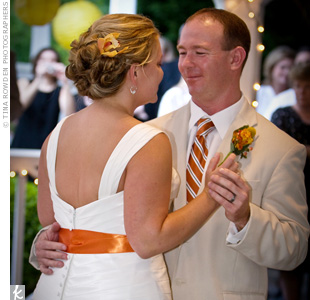 "The DJ played Colbie Callet's ""Realize"" for Cori and Brett's first dance. ""That was a staple while we were dating, and we knew it had to be our first song,"" says the bride."