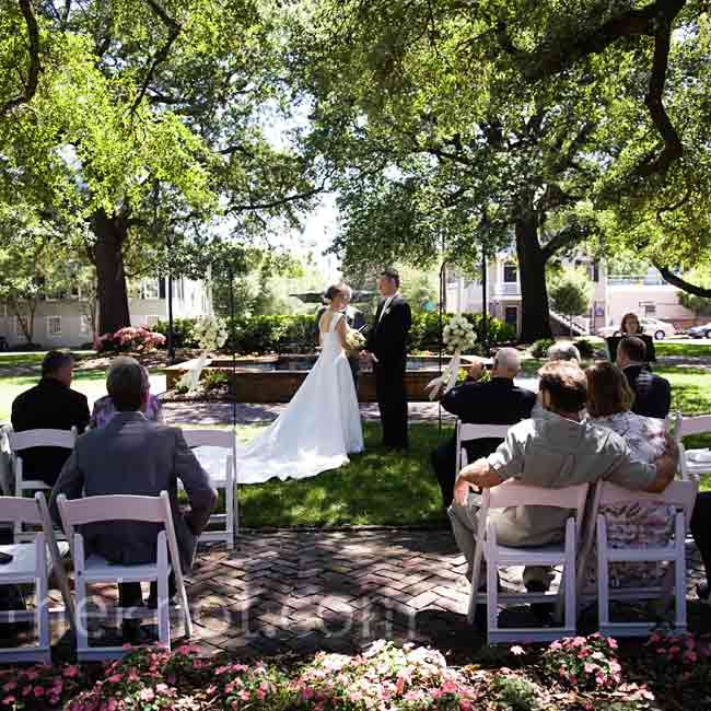 Outdoor Wedding Venues In Georgia: The Bride And Groom Exchanged Vows In Savannah's Historic