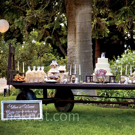 Vintage Dessert Bar