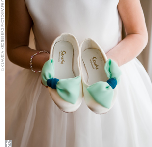 Mint and Teal Shoes