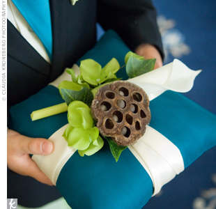 Blue Ringbearer Pillow