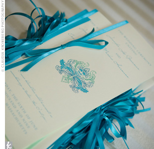 Teal Ceremony Programs