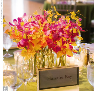Bright Orchid Centerpieces