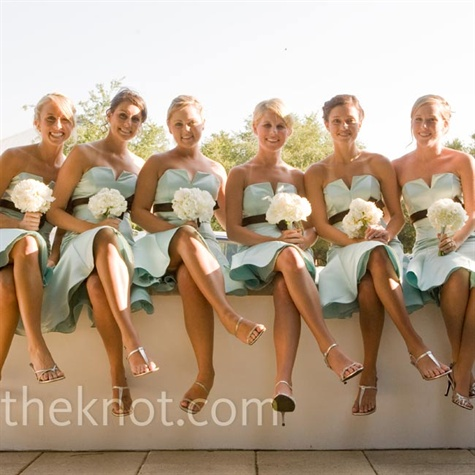Light-Blue Bridesmaid Dresses