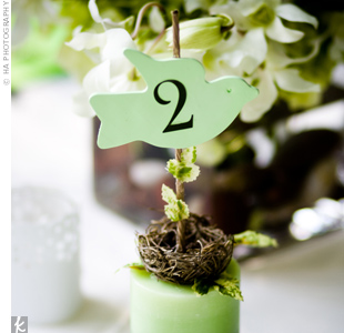Green Table Markers