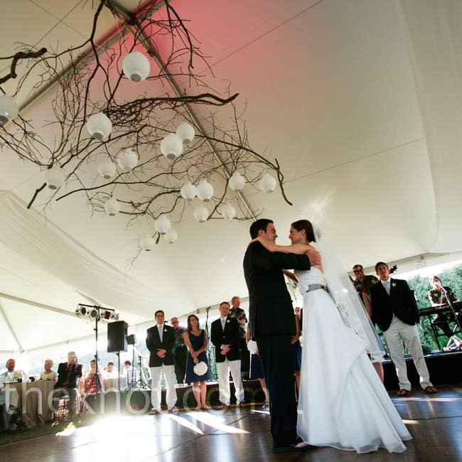 "The bride and groom spent months learning the Fox Trot to Van Morrison's ""Someone Like You."""