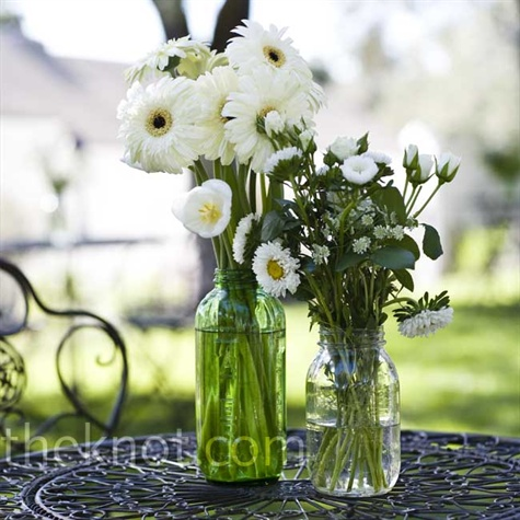 White Daisy Centerpieces