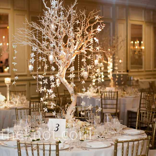 high centerpieces wedding
