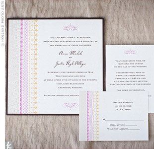 Pink Striped Invitations
