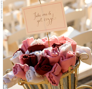 Pink Pashmina Favors