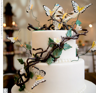 White Butterfly Cake