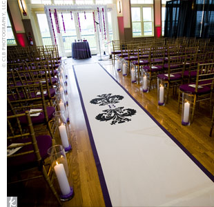 Monogrammed Ceremony Decor