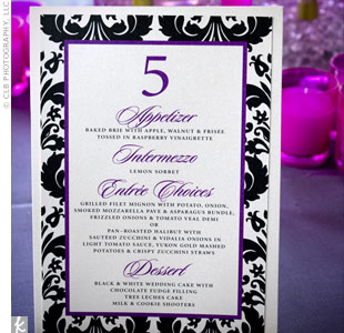 Purple Menu Cards