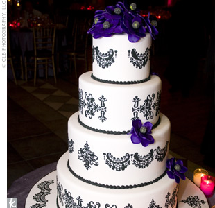Black Damask Cake