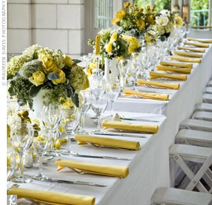 Yellow Wedding Reception