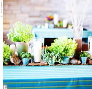 Garden Flower Centerpieces