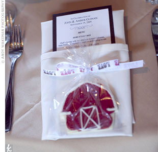 Barn Sugar Cookie Favors