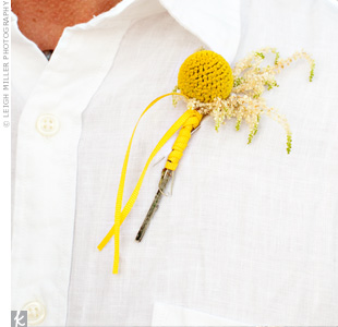 Yellow Wedding Boutonnieres