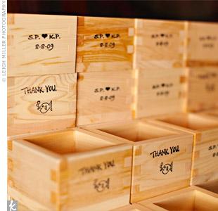 Sake Favor Boxes