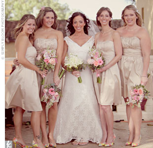 Champage Bridesmaid Dresses