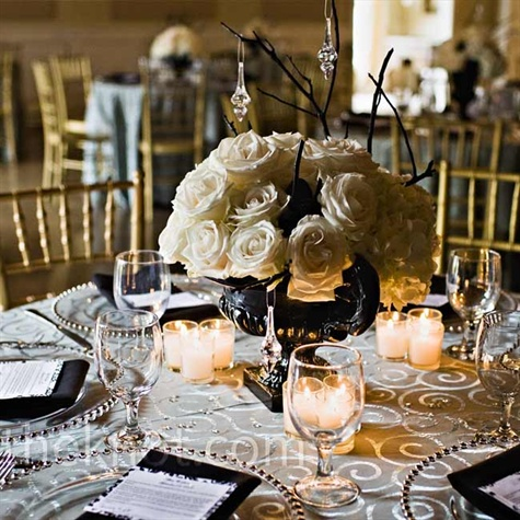 White Rose Centerpieces