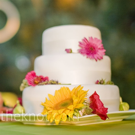 Sunflower and Daisy Cake