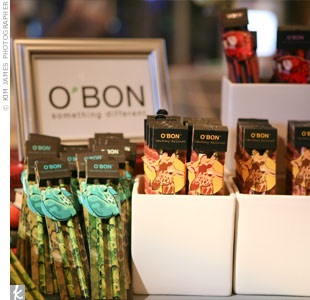 As another earth-loving gift for our guests, O&#39;bon offered up eco-friendly pencils and stationery.