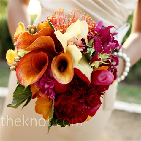 Bright Bridesmaid Bouquets