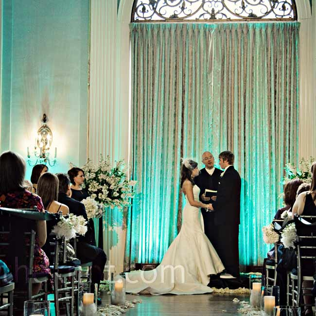 After her bridesmaids walked down the aisle to Moon River by Henry Mancini -- the theme song of Breakfast at Tiffany's -- Ryan and Griff exchanged formal vows.