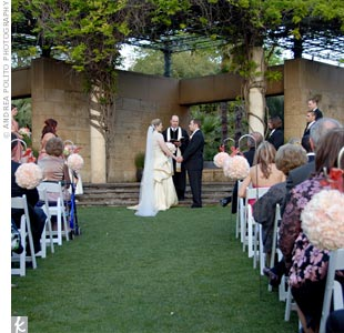 "Shelly had always dreamed of a garden wedding, so the Dallas Arboretum and Botanical Garden was a ""no-brainer,"" as she puts it."