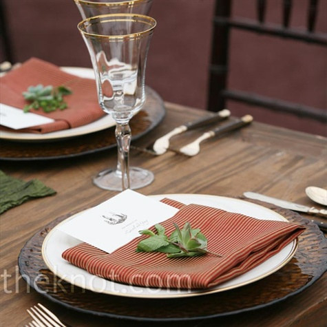 Brown Place Setting