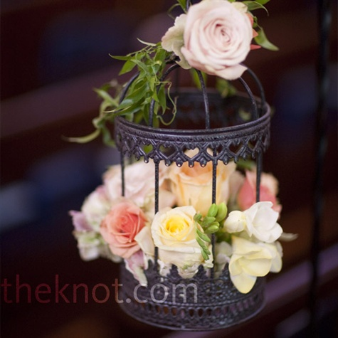 Birdcage Flower Arrangements