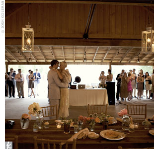 Guests sipped sweet tea and mint juleps under hanging paper lanterns inside the Serenbe barn. The scene mimicked a 1920s speakeasy, complete with jazz music.