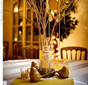 DIY Gold Centerpieces