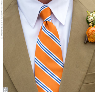 Blue and Orange Stripe Tie