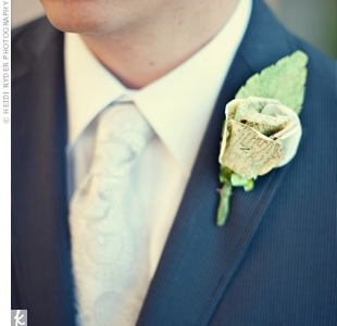 Paper Wedding Boutonniere