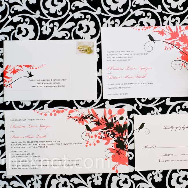 The stationary set the tone and gave guests a hint of the whimsical wedding to come.