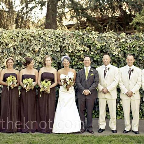 beige and brown wedding - photo #10
