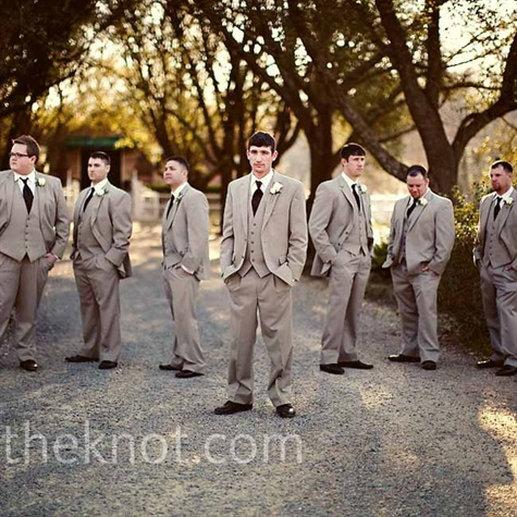 Tan Wedding Formalwear