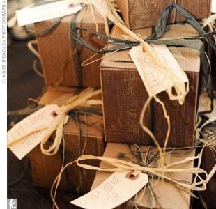 Wood Box Favors
