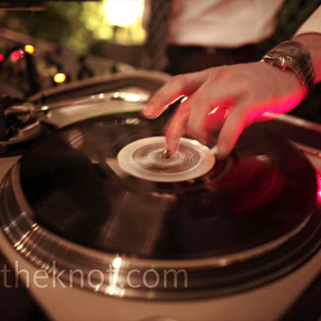 A DJ spun tunes as guests danced into the night on the Manhattan roof deck.