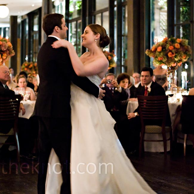 "Felicia and John chose Iron & Wine's version of the song ""Such Great Heights"" for their first dance."
