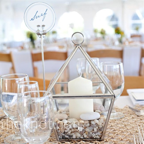 Glass Lantern Centerpieces